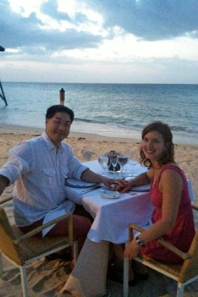 Dinner on the beach, just the two of us )