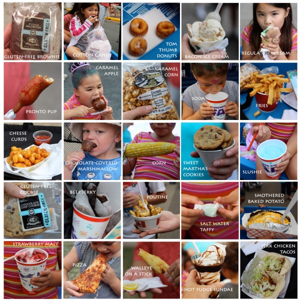 MN state fair food collage