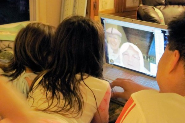 Talking with the tooth fairy via video chat
