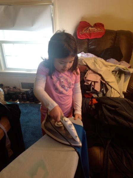 daisy petal ironing