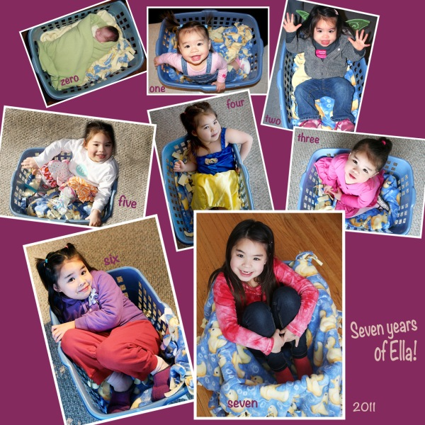 ella 7th bday collage