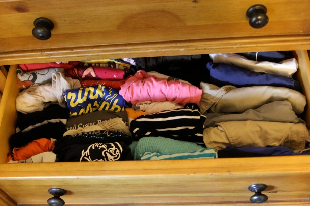 decluttering drawer